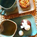 Dimanche matin ❤ . . . 😋 Pâtisseries sans gluten et sans lactose mais mas sans gourmandise @chezgregoirepatisserie 😍 Vaisselle @bloomingville_interiors en vente à L'effet canopée Lyon 1er